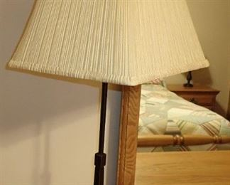 IRON LAMP WITH SHADE