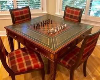 Maitland Smith inlaid game table