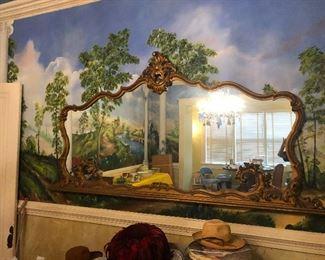 Huge Vintage Wood Mirror 7' (W) x 4' (H)