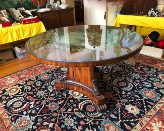 Hand Panted, Hand Carved Maitland Smith shiny top Table