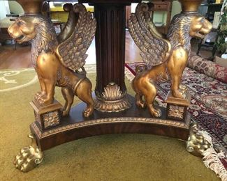 Look at those Hand Carved Griffins, Brass Lions Paws  and all! they come alive at night don't tell anyone