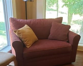 Upholstered Lazy Boy love seat hide a bed