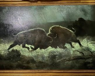 "Charles Damrow  ""Battle of the Bison""                                                    65"" x  41.5""     $3750"