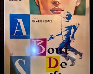 Movie Poster  Jean Seberg / Jean Paul Belmondo -       Rare!!!    $10,000