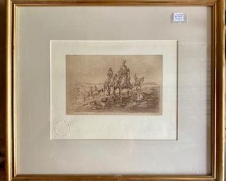 Edward Borein Stamped Print                                                            Signed in Plate  $350