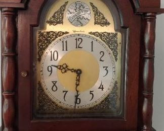 WORKING, CHIMING GRANDMOTHER CLOCK