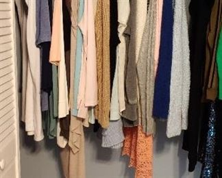 Better label clothing, many with tags.