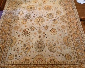 """Hand Knotted Arts & Crafts Beige Floral Area Rug (9' x 5'10"""")"""