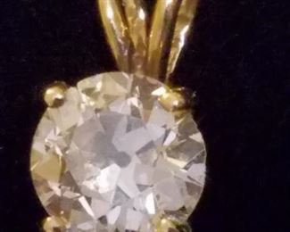 1.5 Carat I1 Diamond Pendant