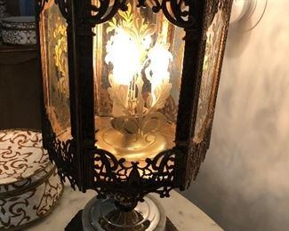 These over sized 70's Italianate style table lamps always amaze