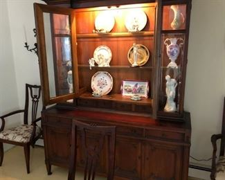 breakfront - china cabinet with loads of china