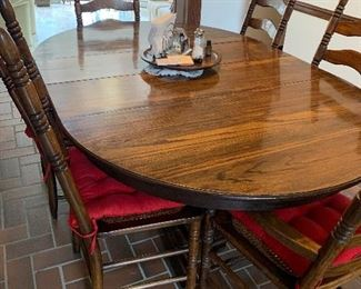 Six chairs  two leaves and table great condition $195.