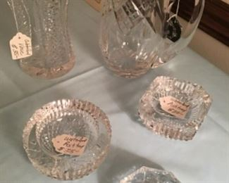 Assortments of Waterford signed glass