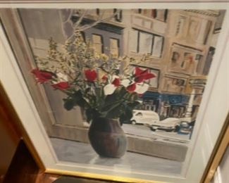 Signed, numbered LE lithograph 'Window view