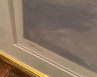 Signed, numbered LE lithograph 'Window view'