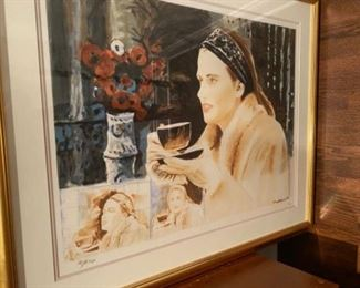 Signed, numbered LE lithograph 'Afternoon coffee'