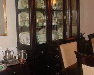 Beautiful, like new Lane Dining room suite, china cabinet, table chairs, sideboard and other