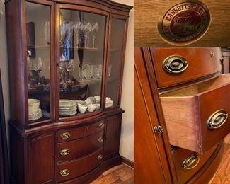 Vintage Bassett Furniture China Cabinet