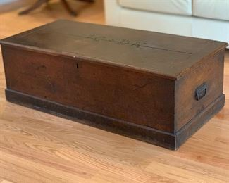 Antique Rustic Campaign Chest	14x43x21in	HxWxD