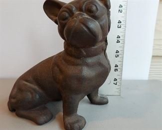 Dog Cast Iron Still Bank $50