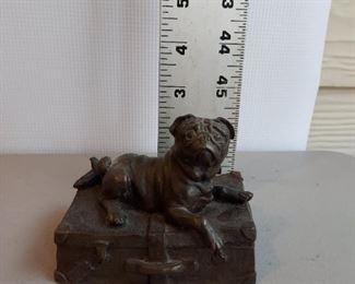 Cast iron pug with felt bottom $18