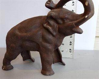Cast Iron Elephant Still Bank $28