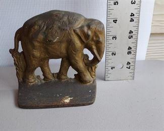 Cast iron elephant door stop $18