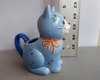 Vintage Otagiri Blue Cat Teapot Handcrafted in Japan $15