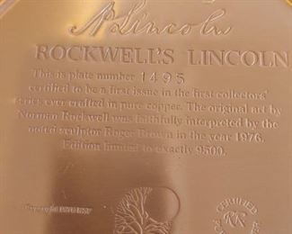 Back of copper rockwell plates