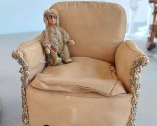Close up of chair (monkey priced separately)