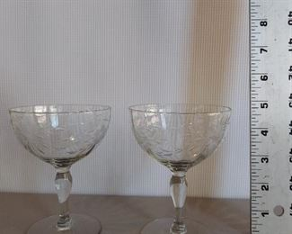 Pair of wine glasses $5