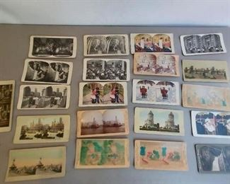 Stereograph with 22 cards $85 (Selection of cards)