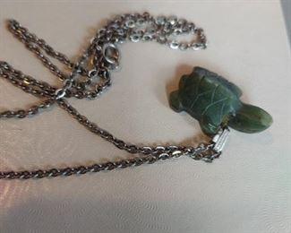 Jade turtle pendant $16