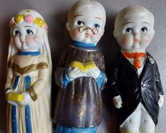 Porcelian wedding figures with officiant, Made in Japan - $16