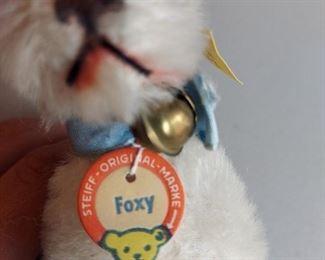 """Steiff Miniature 3"""" Mohair Foxy Fox Terry with Ear Button $150"""