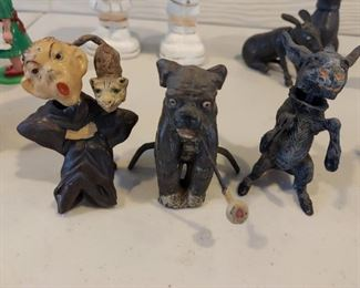 Metal Nodders Set of 3 - $75 Man and Dog SOLD, donkey available