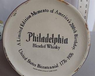 Philadelphia Heritage Whiskey 1976 Bicentennial Decanter Liberty Bell 22k EMPTY $15