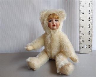 Two faced teddy bear $90