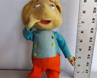 Vintage Topo Gigio Mouse Toy Doll Felt Lenci Italy $50