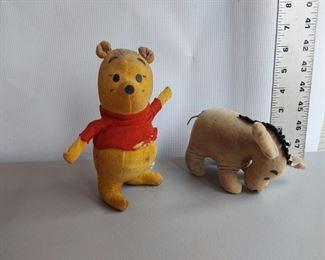 vintage Winnie-the-Pooh and Eeyore Pair - $40