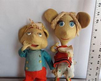 Vintage Topo Gigio & Rosie Rosy Maria Perego Mouse Toy Doll Felt Lenci Italy $100 for both
