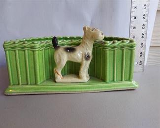 Vintage Terrier Planter - $25