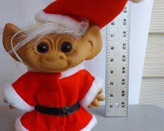 Vintage   Santa Troll Doll -  $5