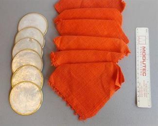 Coasters and napkins $15