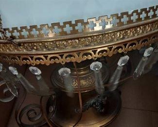 Globe chandelier $100