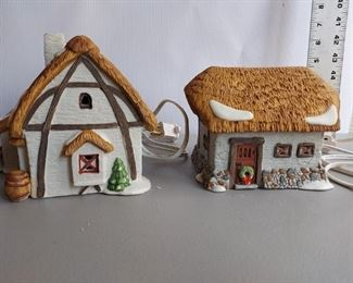 2 Pc Department 56 Lighted Dickens Village Farm  $75