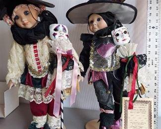 "VINTAGE but NEW 1986 Cindy McClure Victoria Impex 19"" Porcelain Dolls With boxes $350"