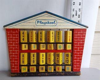 Vintage wooden playschool $14