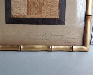 Gift inscription