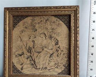Framed tapestry $45